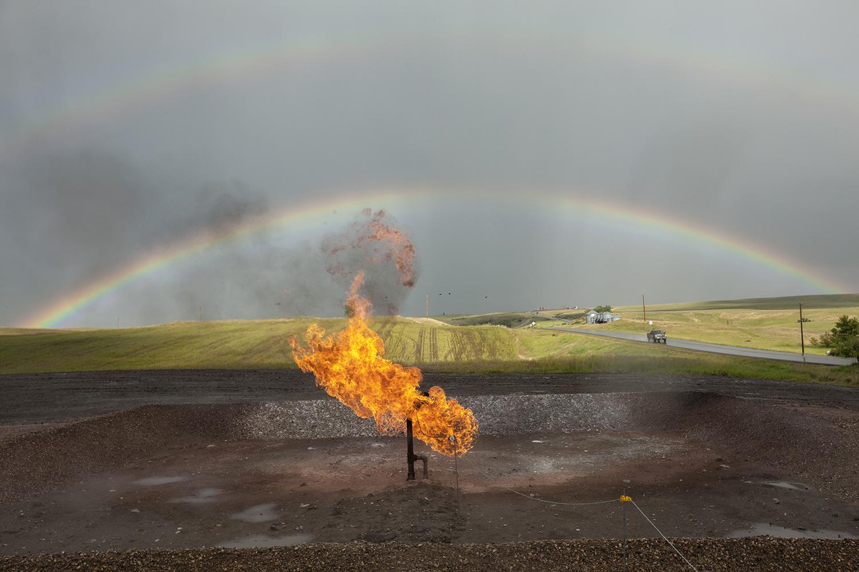 Natural gas flare  Williston, ND. 2012