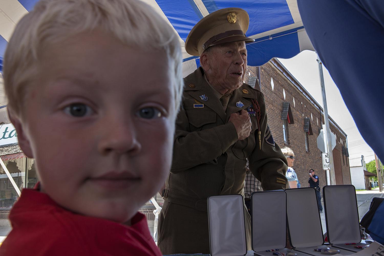 World War II veteran at a July 4th celebration  Tioga, ND. 2012