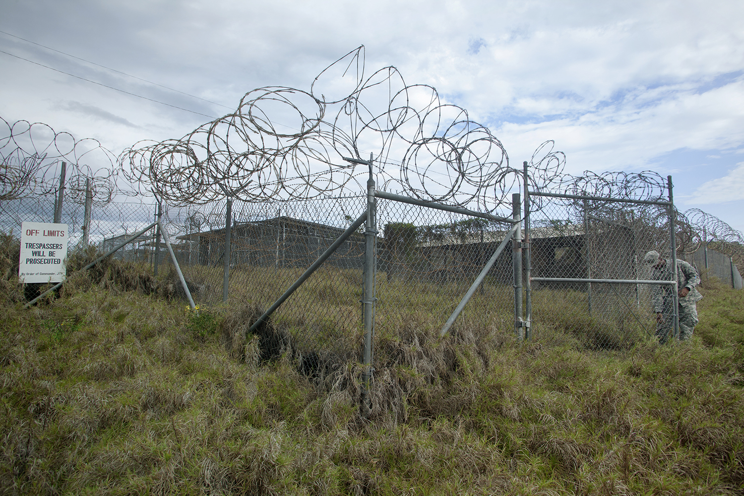 Entrance to Camp X-Ray, the most notorious detention camp  Guantanamo Bay Detention Camp Caimanera, Cuba.  2013