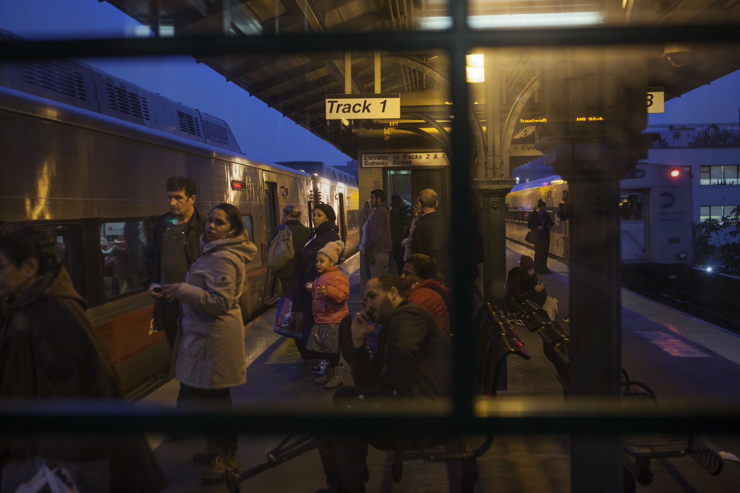 Metro-North train station in Harlem  New York, NY. 2014