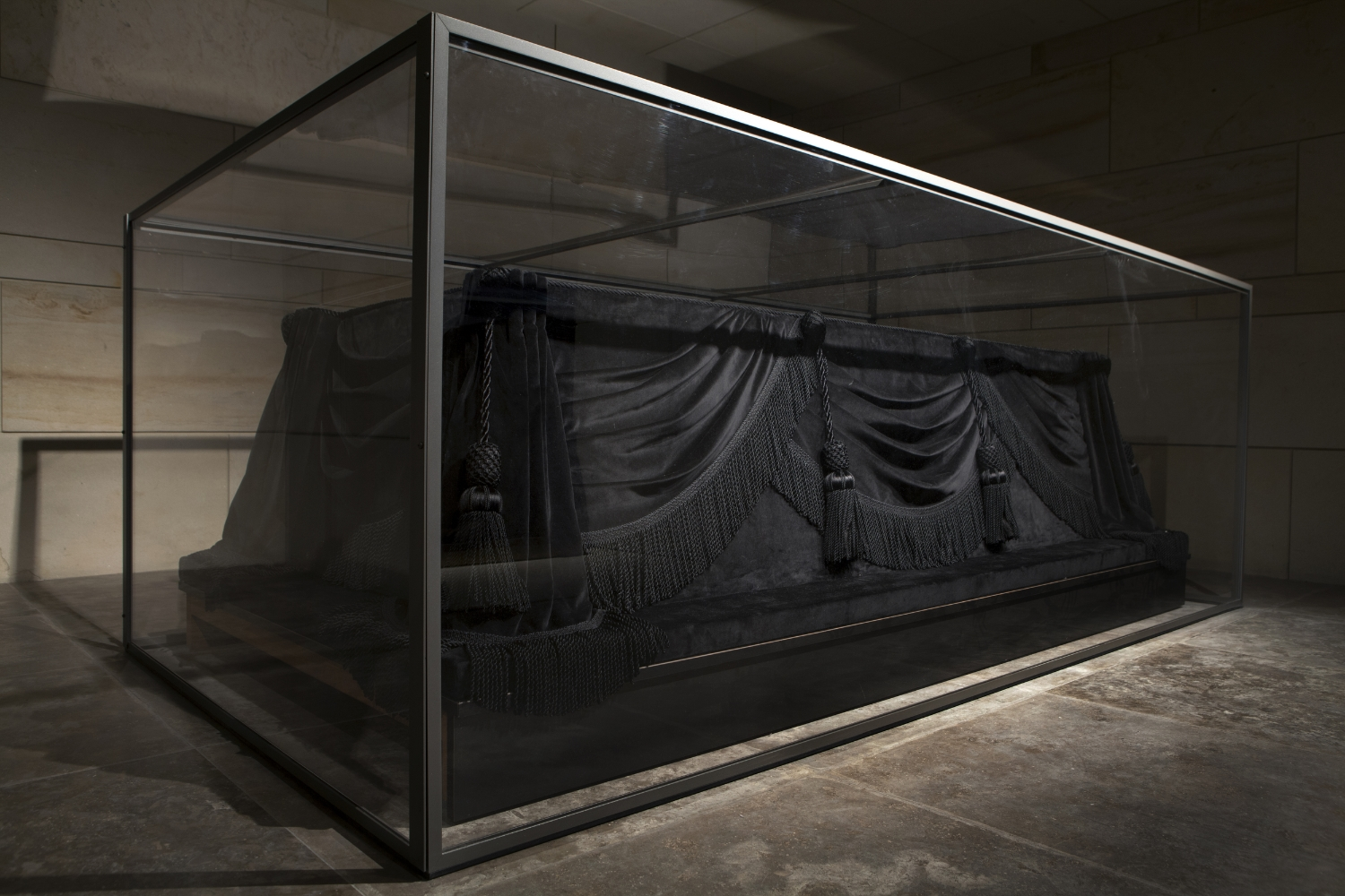 The catafalque on which Lincoln's and later other presidents' coffins were placed  U.S. Capitol Building Washington DC.  2014