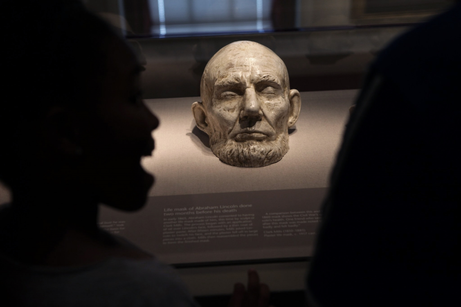 Life Mask of Abraham Lincoln  National Portrait Gallery Washington D.C.  2014