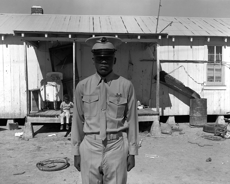 U.S. Marine on leave  Hughes, AR. 1970