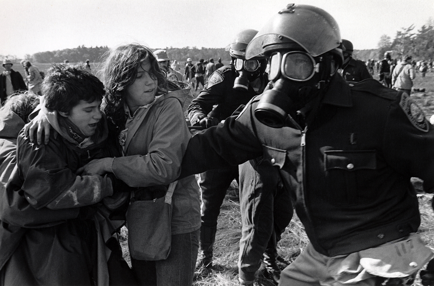 Rounding up protesters  Seabrook, NH. 1979