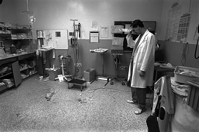 Doctor after loss of patient  Denver General Hospital Denver, CO. 1987