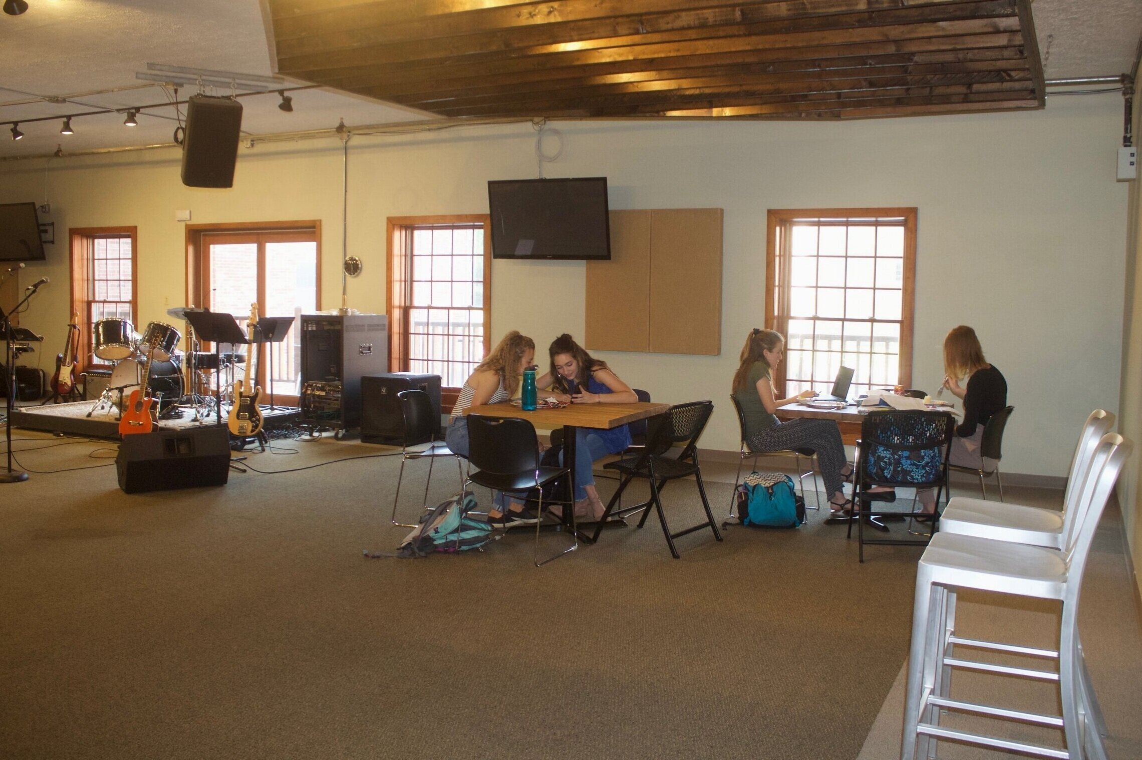 Students Studying in Great Room