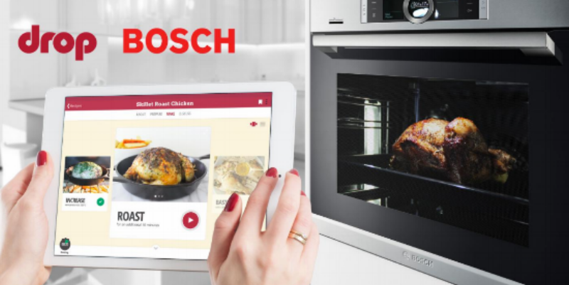 Drop partners with Bosch to integrate with their series 8 oven