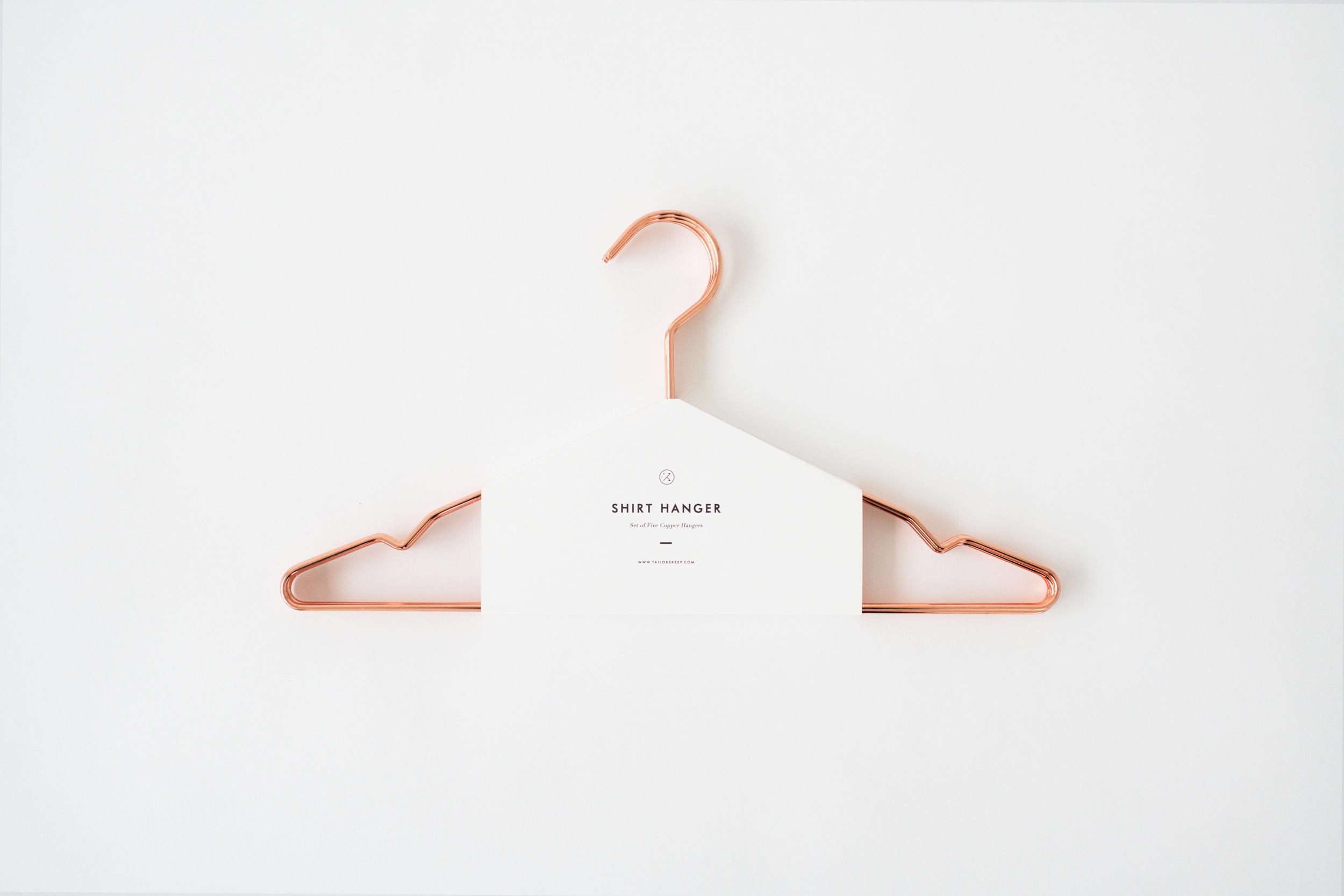 field guide hanger packaging shirt