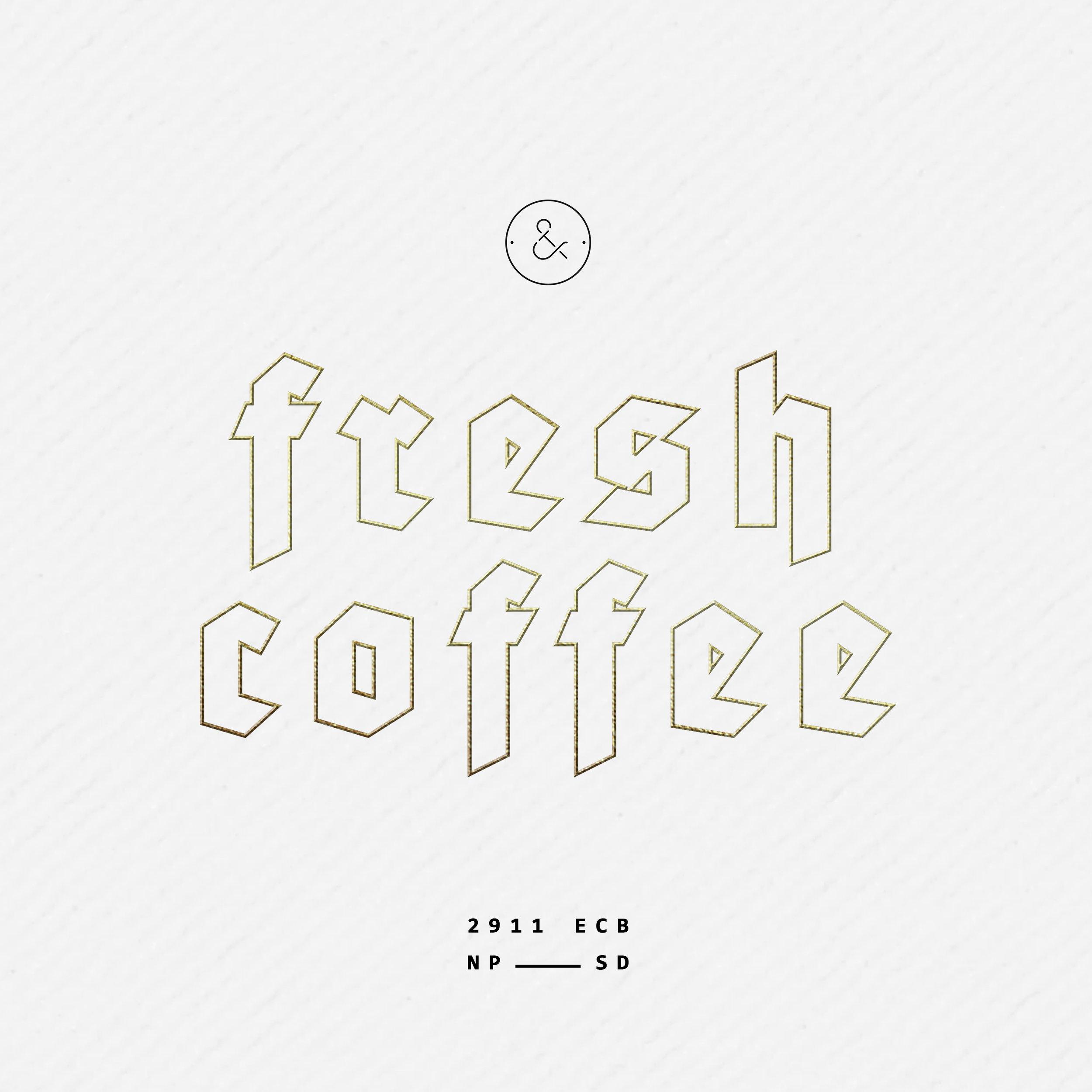 fresh coffee box design gold foil packaging minimal modern monochrome