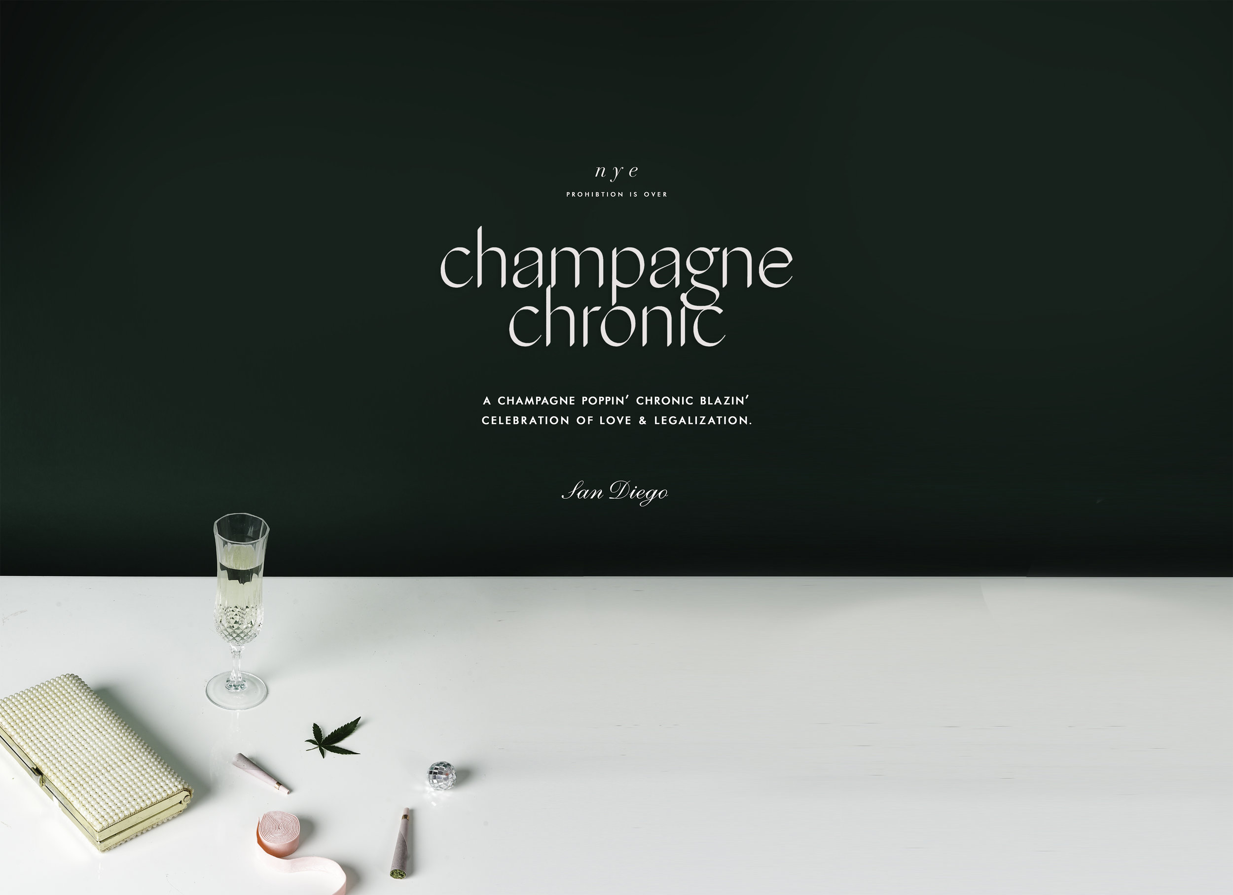 champagne chronic herbal notes field guide art direction photography San Diego