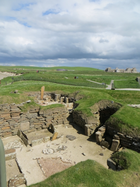 Skara Brae.  It looks small and unimpressive, but with a little imagination and some research...