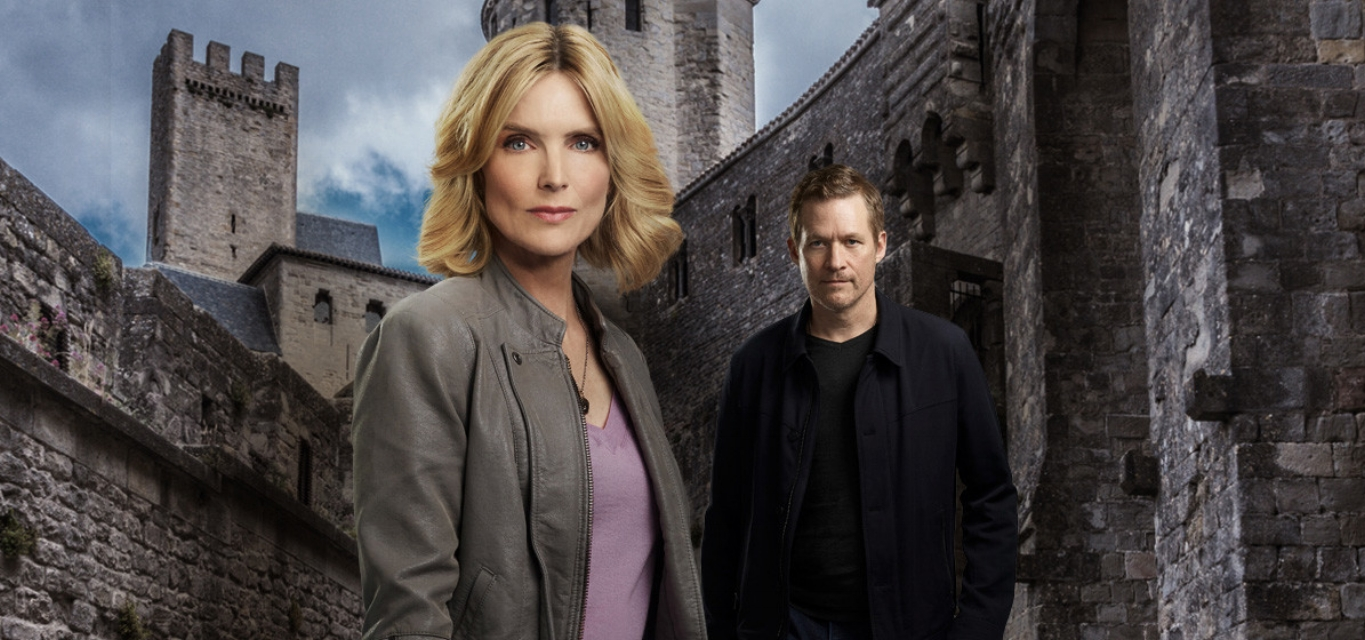 "Courtney Thorne-Smith and James Tupper star in ""Past Malice."""