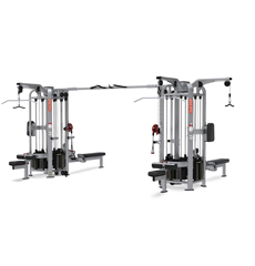 commercial strength Multi Stations Star Trac 9 Station Jungle Gym