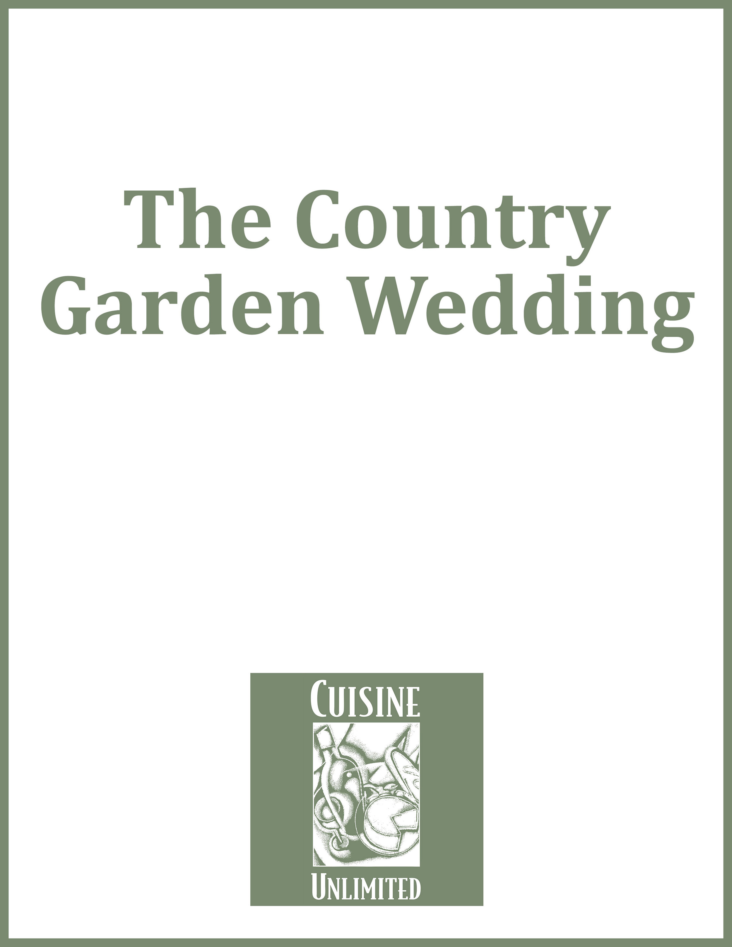 The Country Garden Wedding