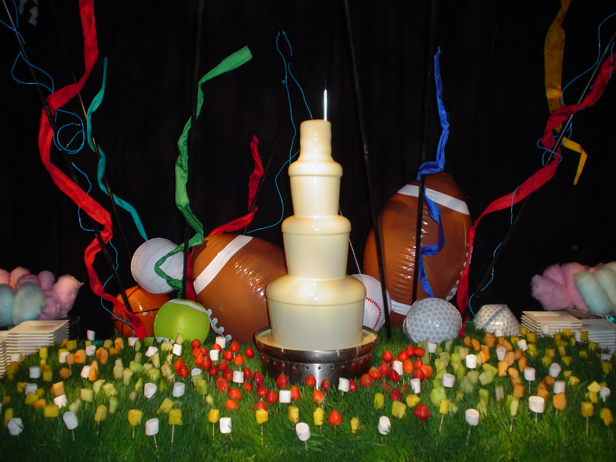 Sports Party with Chocolate Fountain.jpg