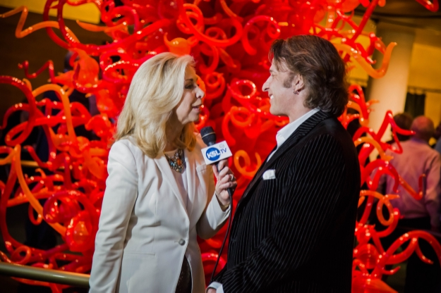Carole Mikita interviewing Kurt Bestor as part of live KSL special