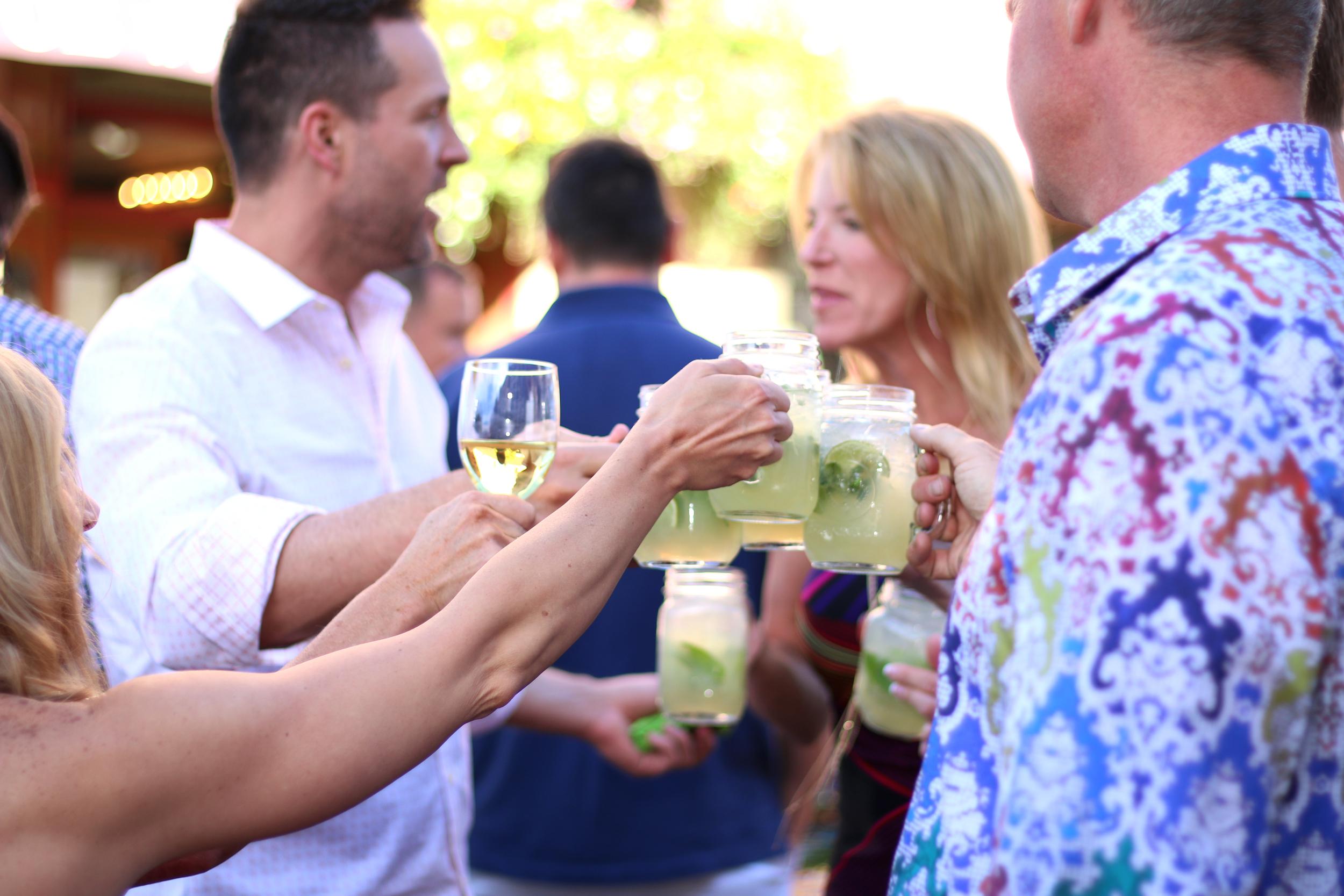 Guests enjoy signature mojitos