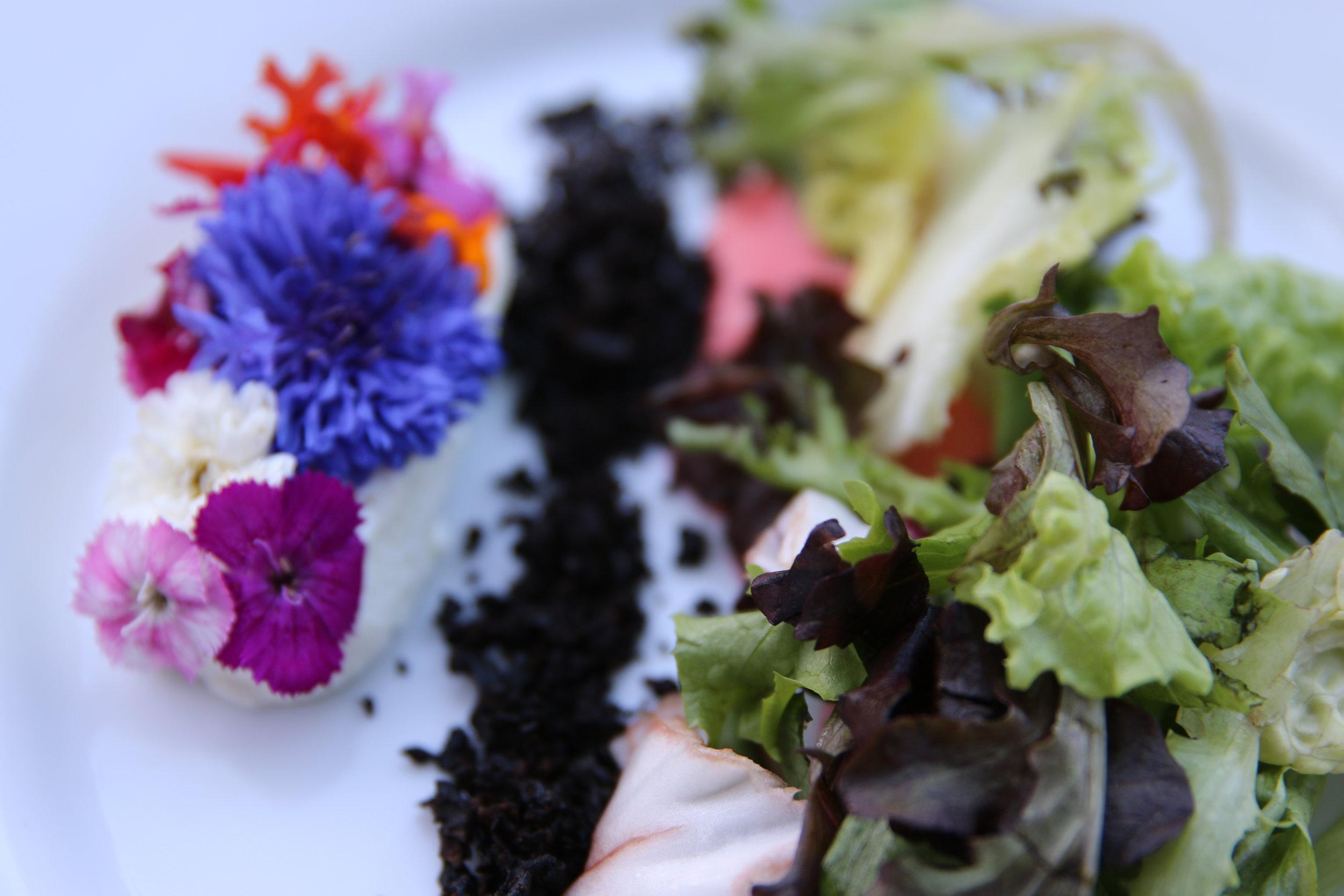 Wildflower & Goat Cheese Salad