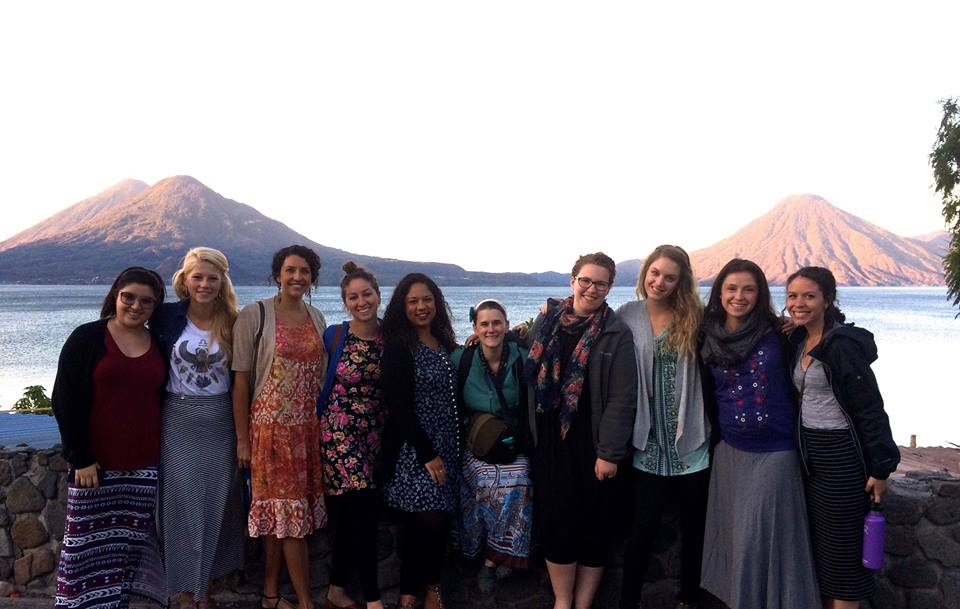 A Kingdom Journeys team, which Mafer joined in ministry for a Beauty for Ashes retreat at Lake Atitlan