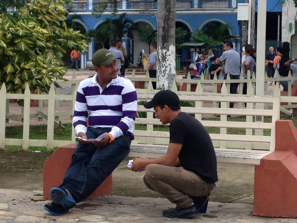 Melvin shared the Gospel with this man in Honduras, and the man prayed to receive Christ.