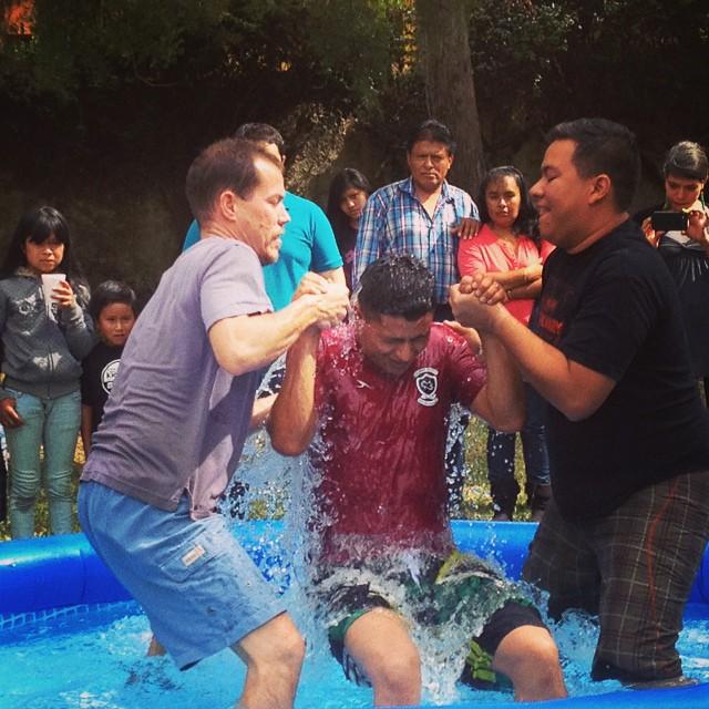 Melvin's baptism