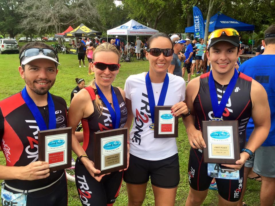 So many podiums! My ugly ass, Renatinha, Pilli and Sebas.