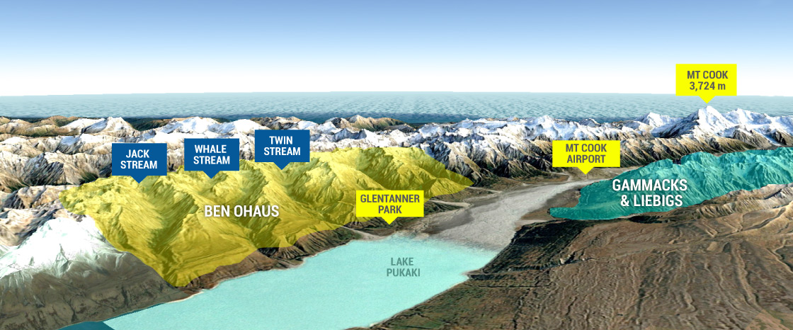 Ski Touring Zones at Aoraki Mount Cook