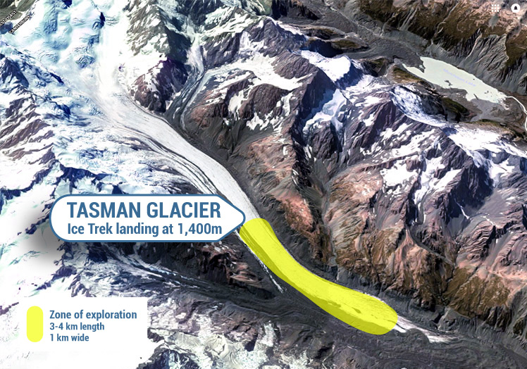TASMAN GLACIER ICE TREK ZONE