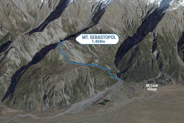 Sebastopol Route Map.