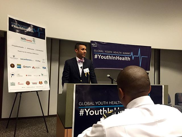 """Starting it off right. """"Healthcare is not just about health, it's about care""""-Shaun Verma #GYHS #YouthInHealth"""
