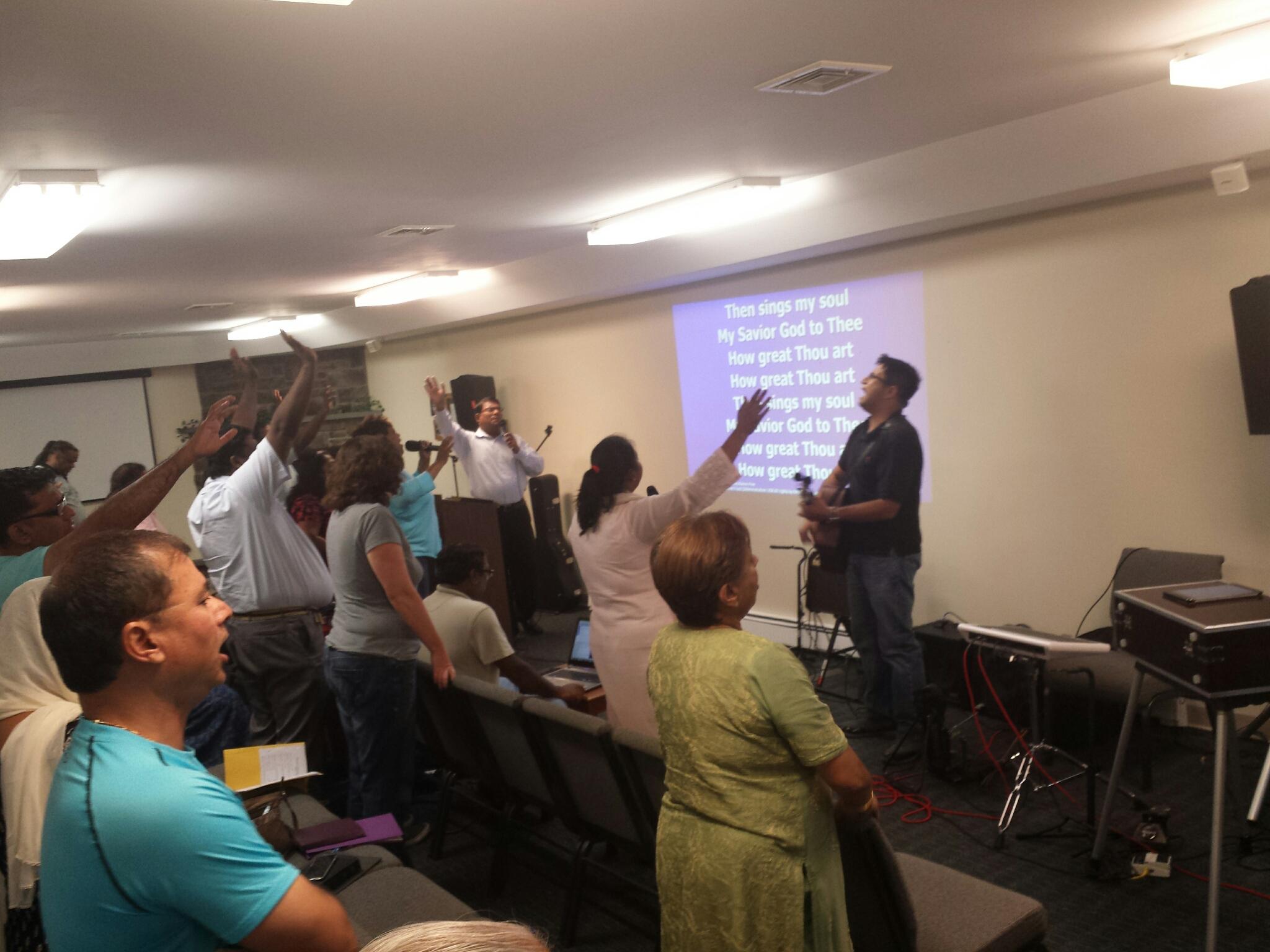 Worship at HICF retreat 2015
