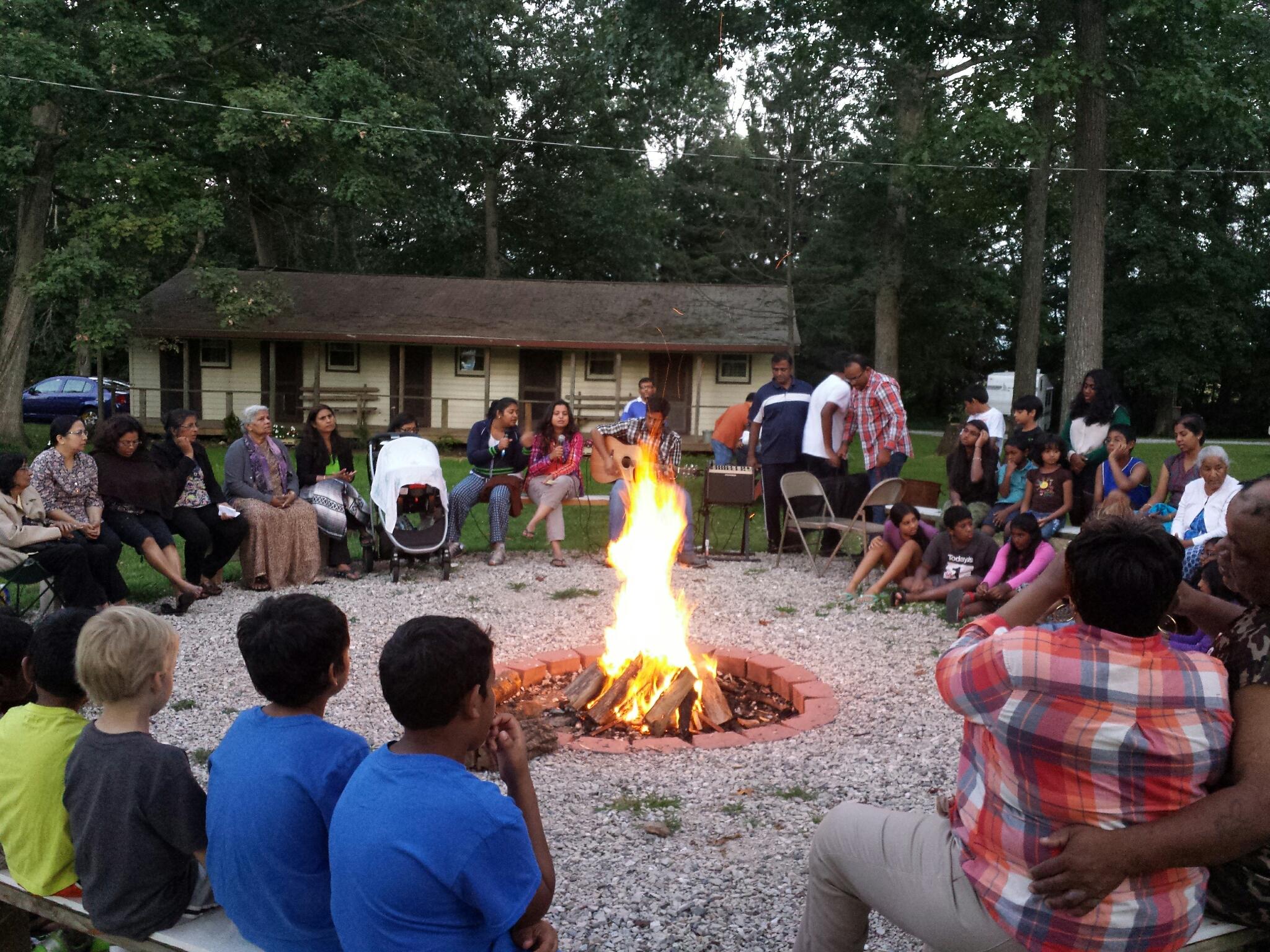 Bonfire at HICF retreat 2015
