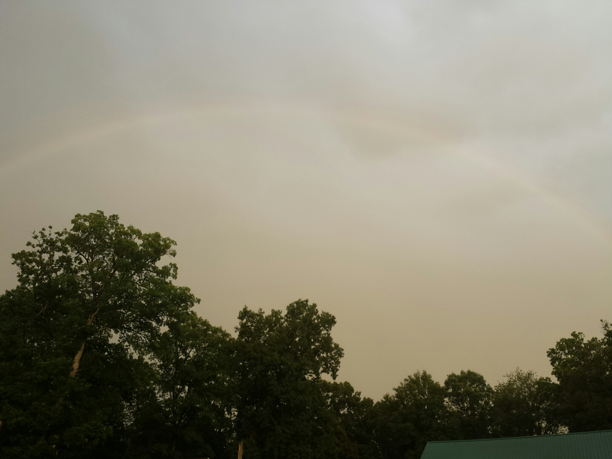 God gave us a Rainbow when we reached retreat center