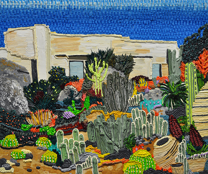 Desert Landscape, 2014, Oil on Canvas, 27 x 31 inches