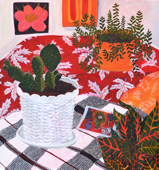 Studio Still Life, 2015, oil on canvas, 34 x 32 inches