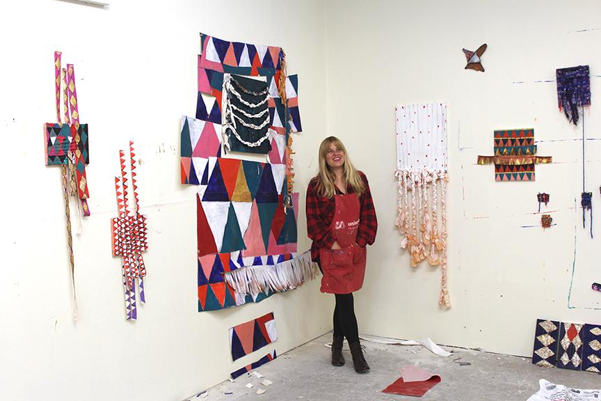 Gyan in her studio in Fairfield, Iowa.