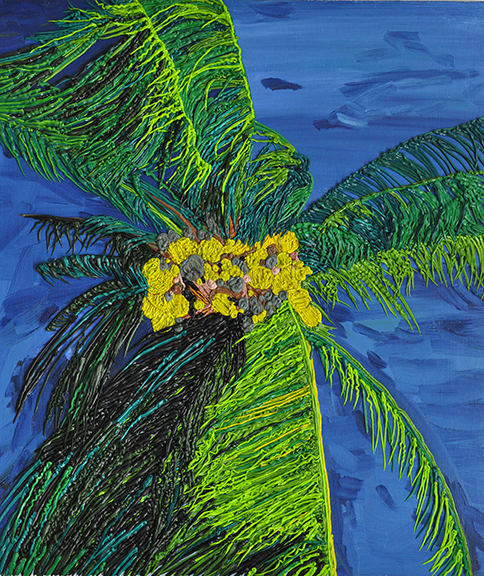 Palm Picture, 2014, Oil on Canvas, 31 x 27 inches