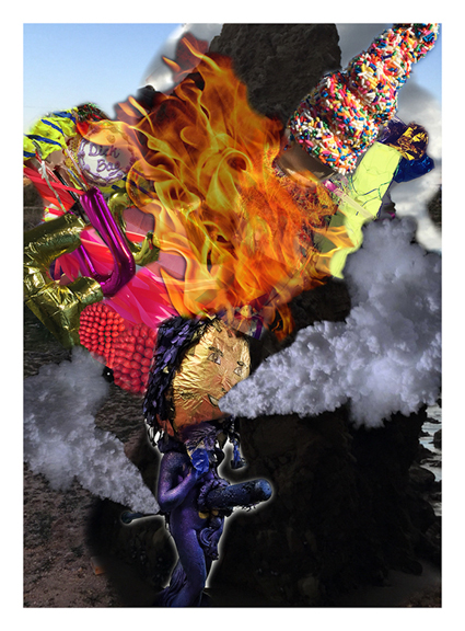 Crossfit on Fire, 2015, Print