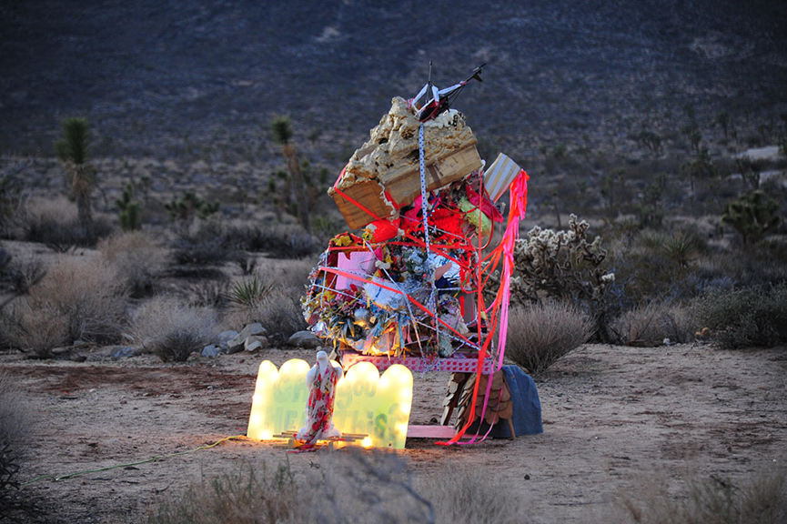 The Pile, 2015, Installation shot: Joshua Tree CA, Mixed media