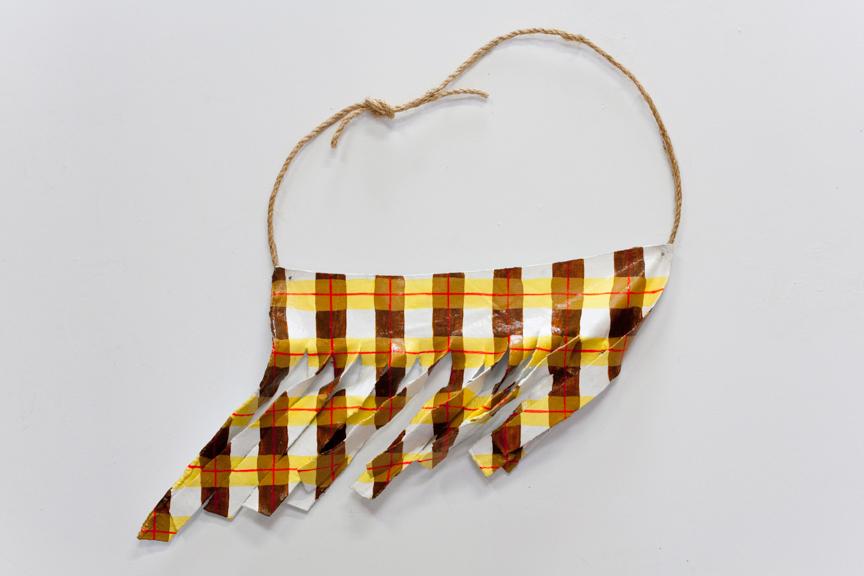 Sway, 2014, Fabric, fiberglass resin, rope, paint