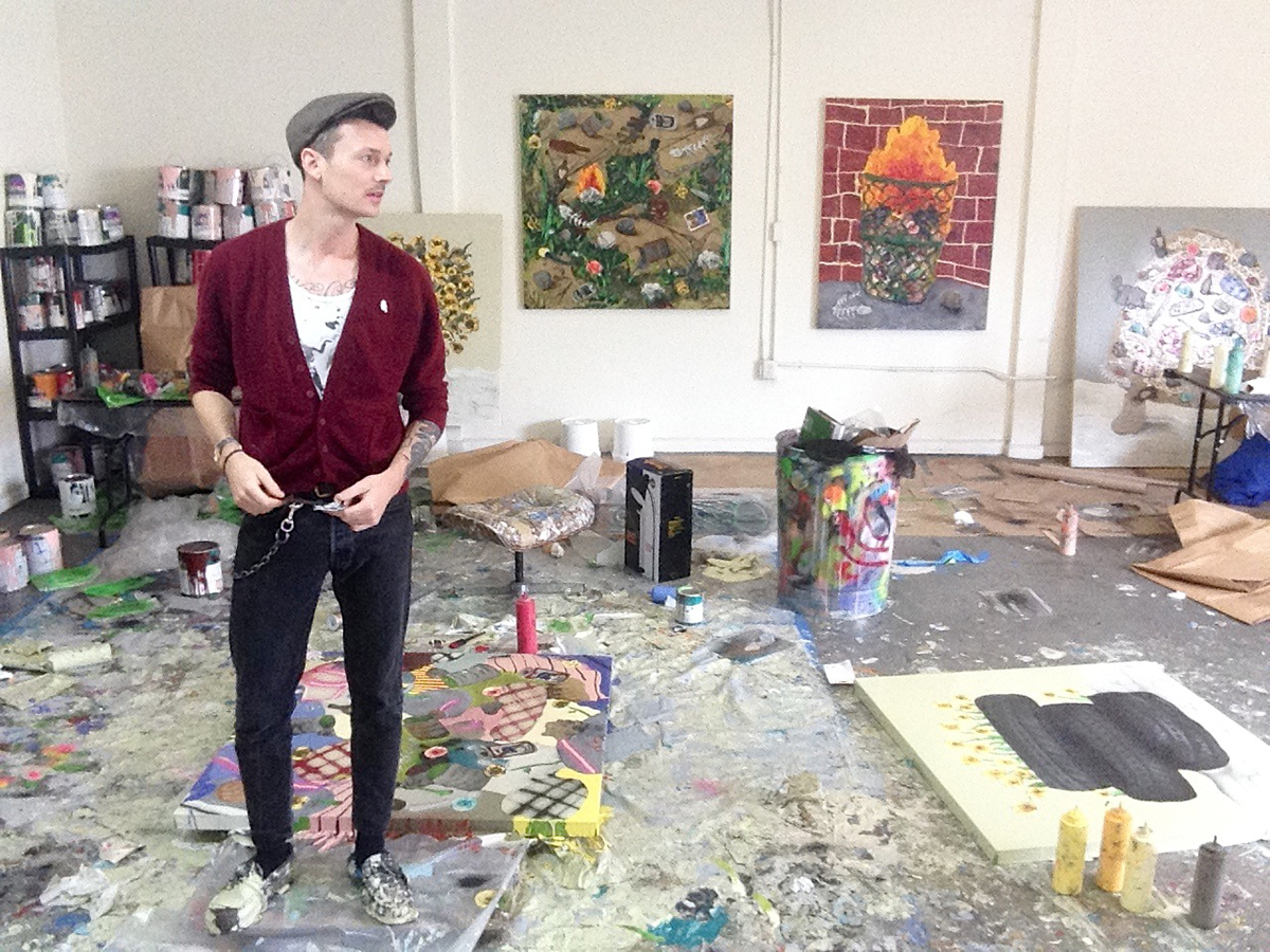 Mark Posey in his studio in Los Angeles.