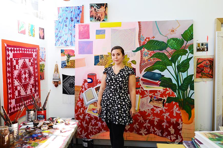 Anna in her studio in Oakland, California