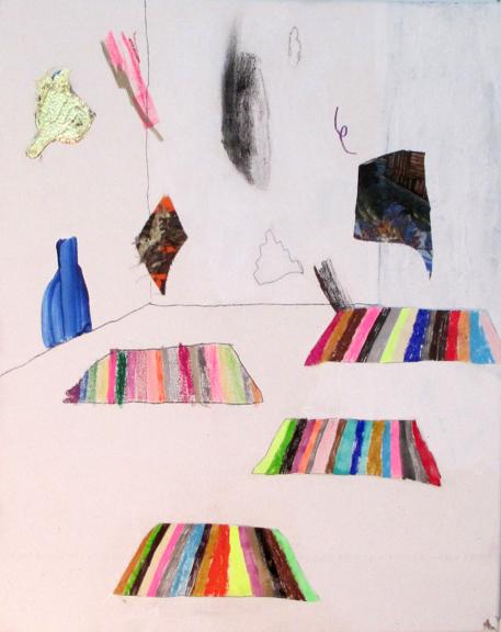 Sleep Rugs, 2014, Mixed media on canvas, 20 x 16 inches