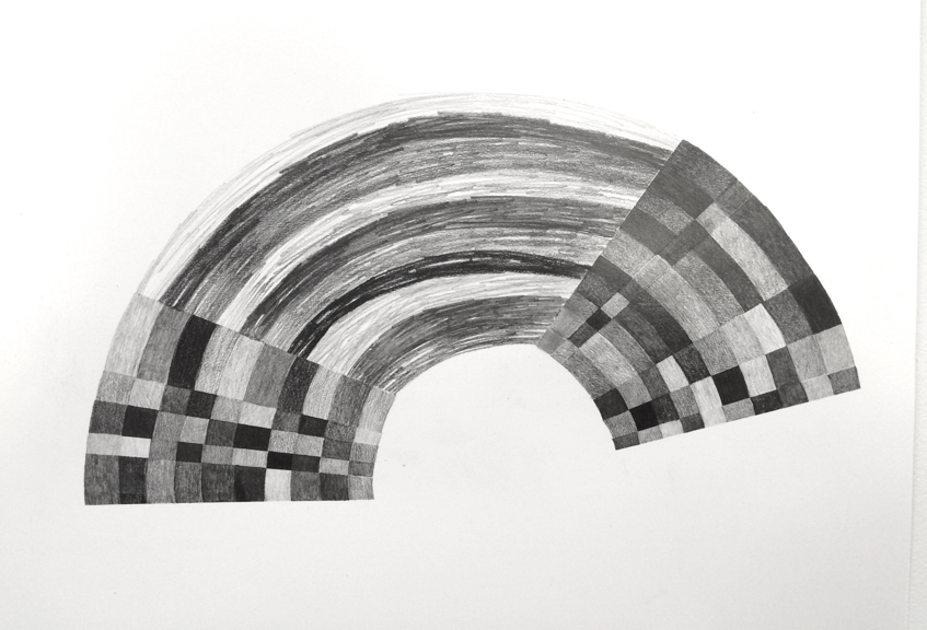 Arch, 2015, Graphite on Paper, 19 x 24 inches
