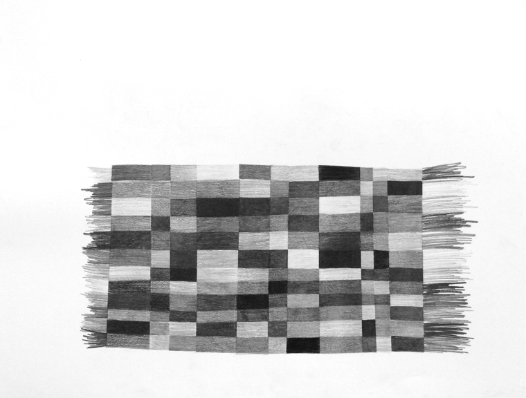Throw Rug, 2015, Graphite on Paper, 19 x 24 inches