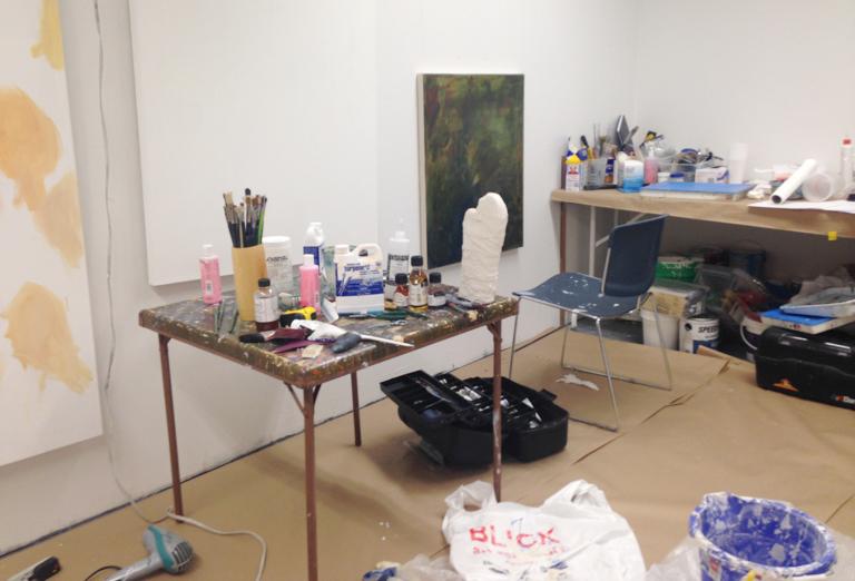 Katie's studio at SAICin Chicago.