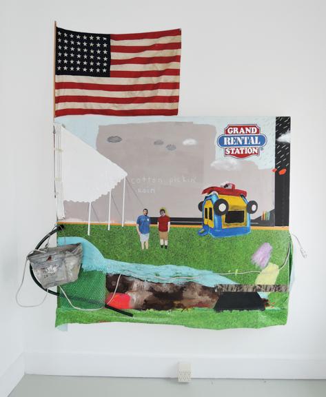 "Grand Rental Station, 2014, Mixed Media, 49 x 68"""