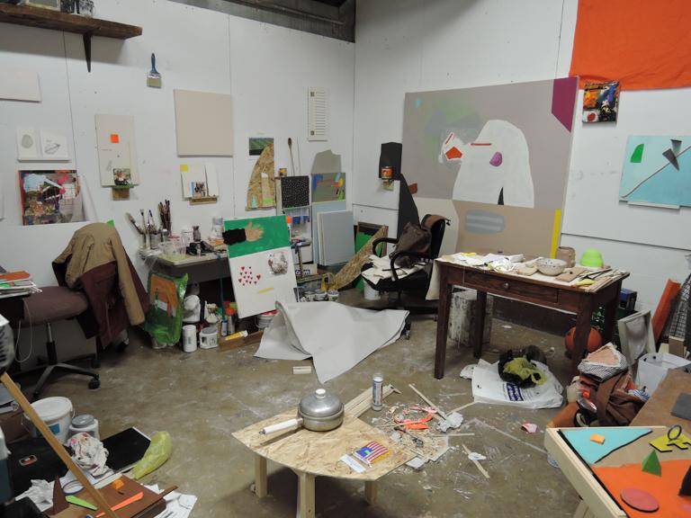 Katie in her studio in Brooklyn.