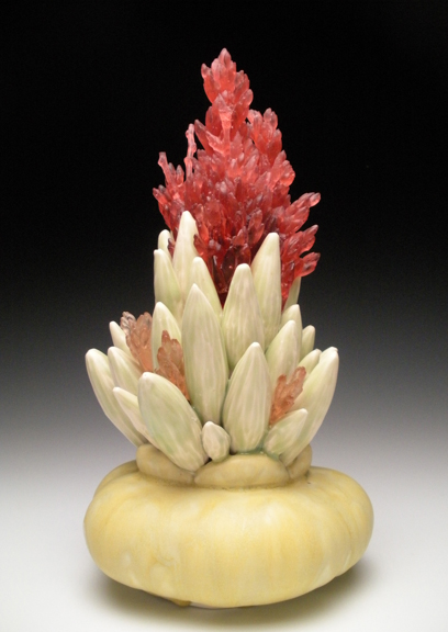 """Descanso, 2012, ceramic & glass, 18"""" x 11"""" x 11"""""""