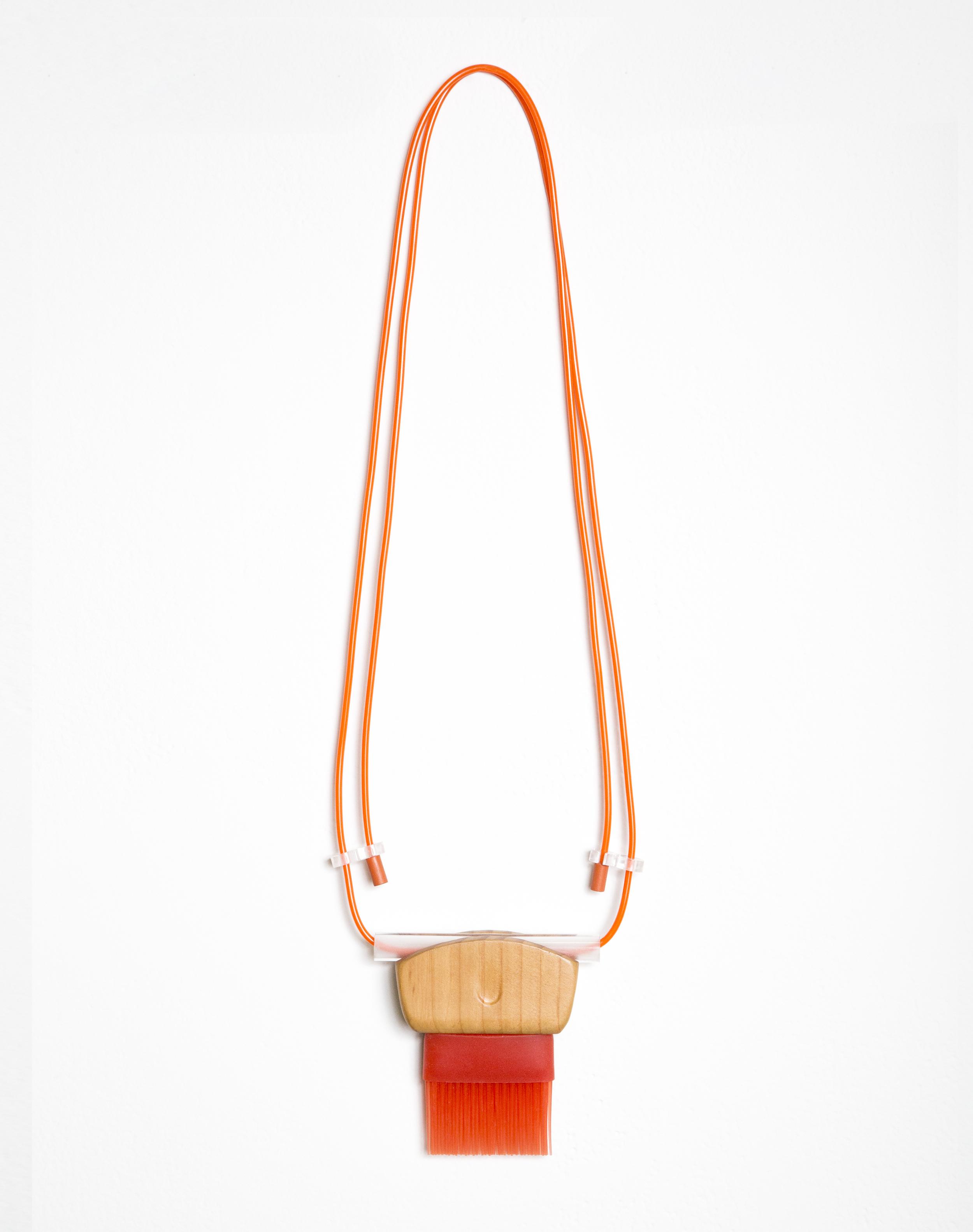 "Untitled (Brushes), 2015, wood, rubber, acrylic, paint, 4""x4""x1"" & 5""x5""x1"""